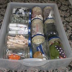 empty glass baby food jars