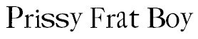 prissy frat boy free scrapbooking font