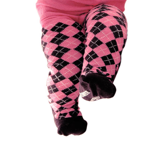 mini argyle baby tights trumpette