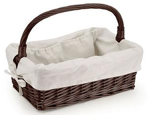 nursing basket wicker basket with handle
