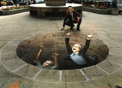 julian beever sidewalk drawing