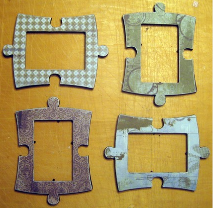 hiccup inc set of 4 puzzle piece frames