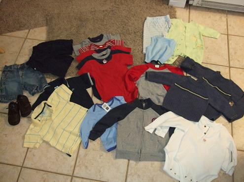 kid's clothes from yard sale