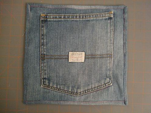 reuse old jeans hot pad