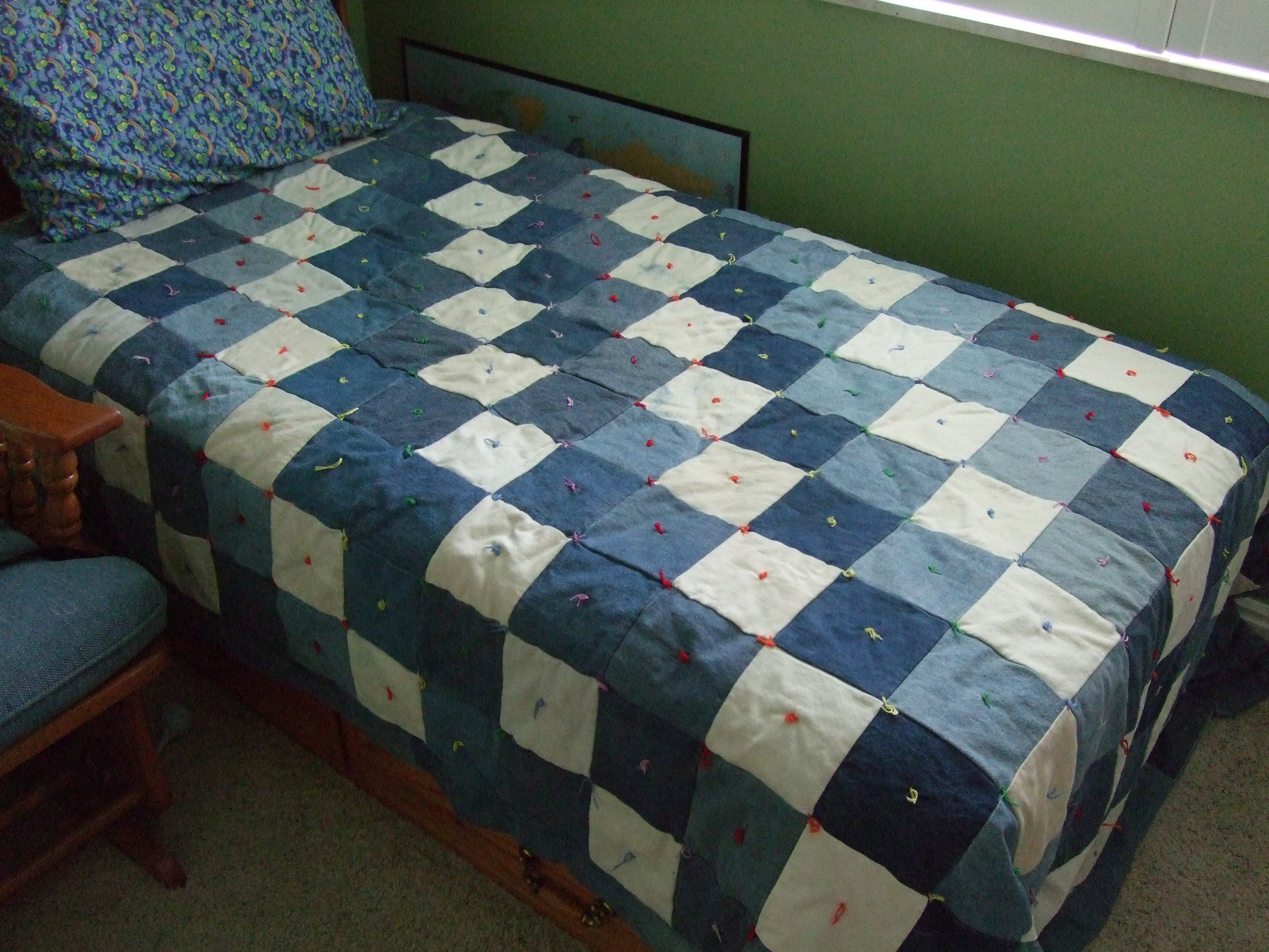 Old Blue Jean Quilt Pattern