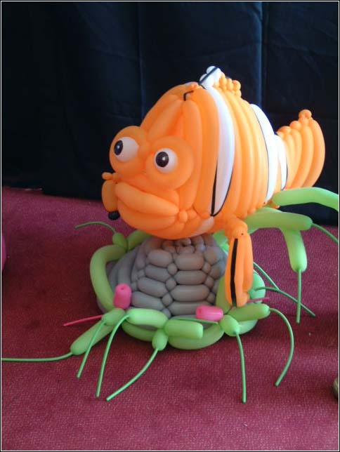 balloon art fish