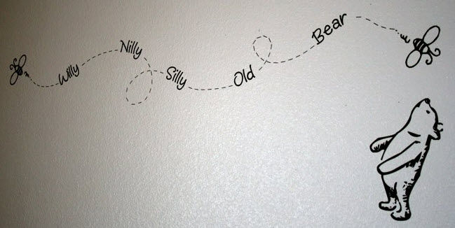 vinyl lettering wall art winnie the pooh