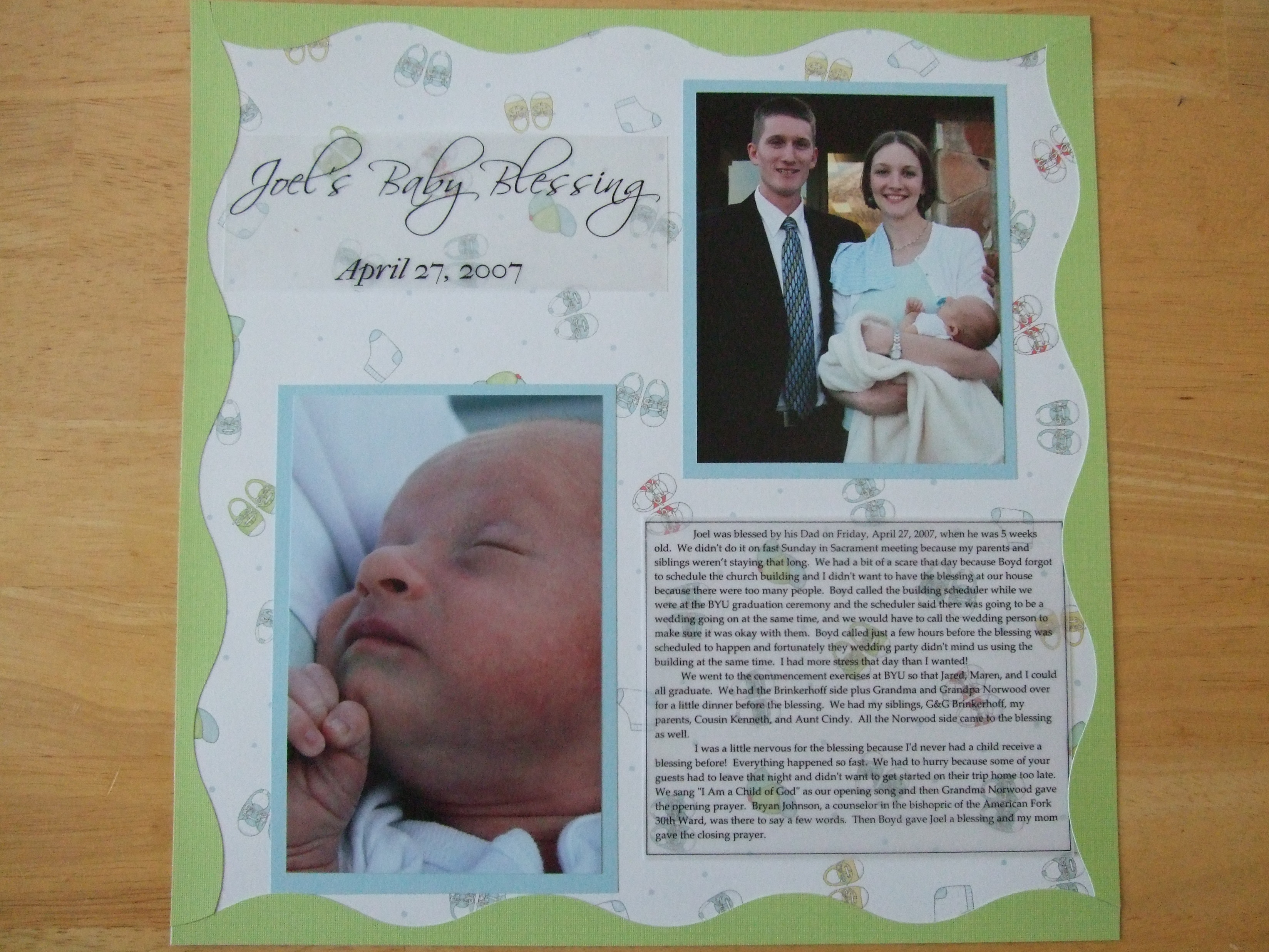 scrapbooking page example