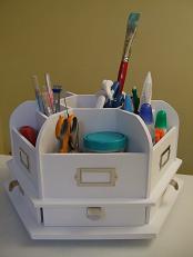 desktop craft carousel organizer