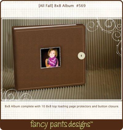 fancy pants 8×8 scrapbook album
