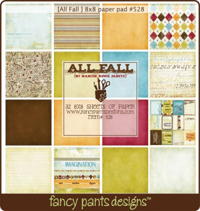 fancy pants 8×8 scrapbook paper pad