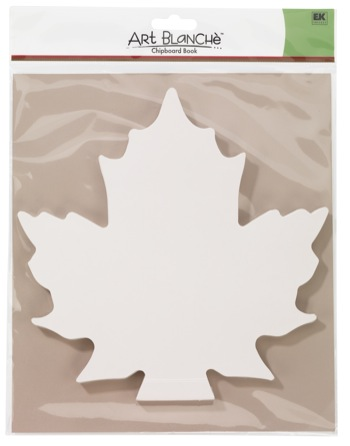 ek success art blanche maple leaf chipboard book