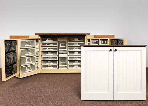 minibox scrapbooking furniture storage organization