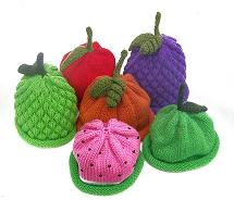 fruit themed kids knitted hats