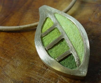 tinted concrete pendant handmade original art