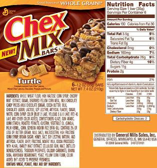 turtle chex mix bars
