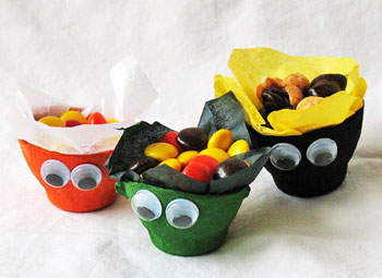 egg cup treat holders