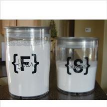 flour sugar food labels