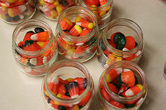 jars of halloween candy