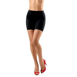assets by sara blakely fantastic firmers mid thigh shaper in black