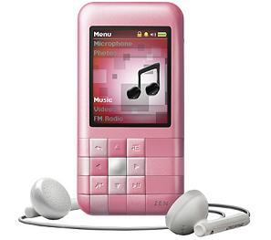 pink zen mozaic creative labs 4gb mp3 player