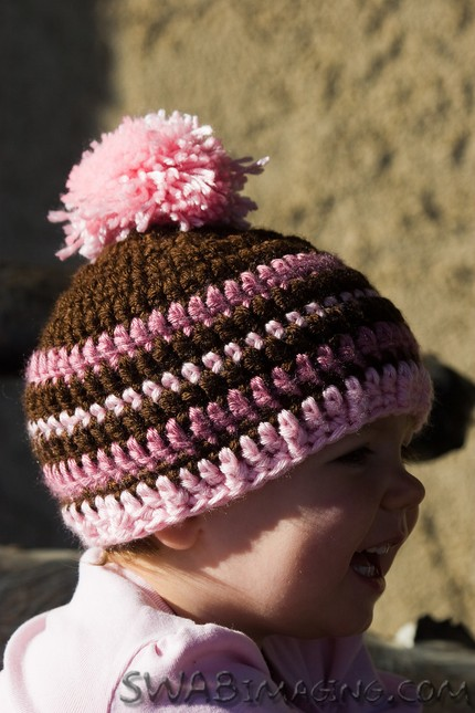 handmade knitted beanie hat