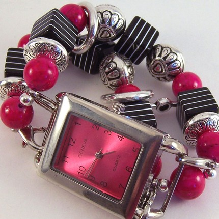 bracelet watch interchangeable band pink