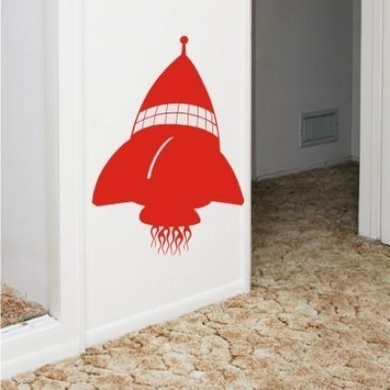 vinyl wall graphics art rocket