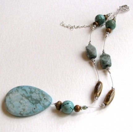 sea turquoise jasper necklace