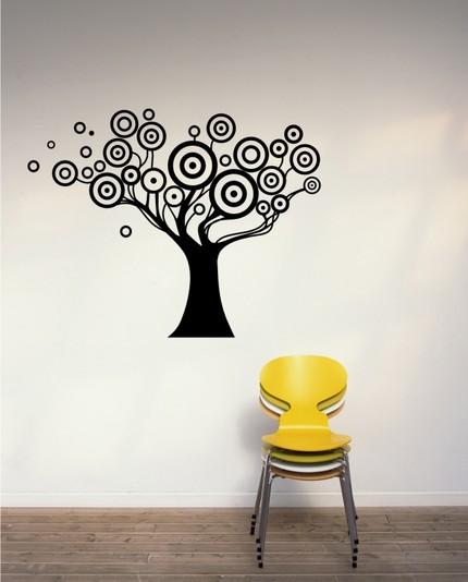 vinyl wall graphics art swirly modern circles