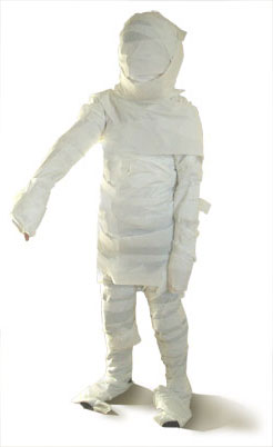 toilet paper mummy halloween party game