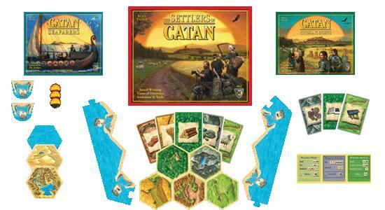 settlers of catan seafarers of catan cities and knights