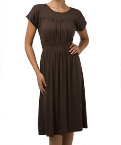 Shirred Dress by shade clothing