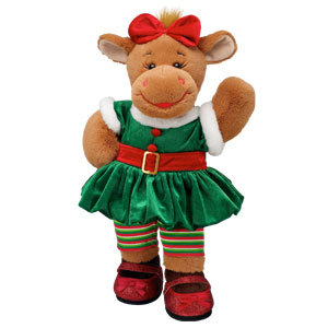 girl elf holly moose build a bear