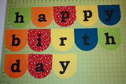 birthday banner bunting tutorial