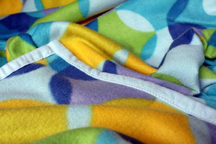 fleece blanket binding