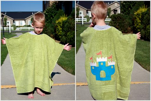 kids towel swim cover up