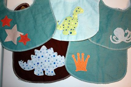 infant baby bib tutorial