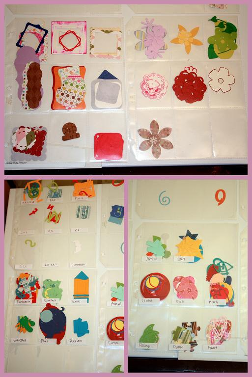 Die Cut scrapbooking shape storage