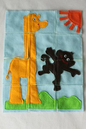 sewing tutorial felt puzzle
