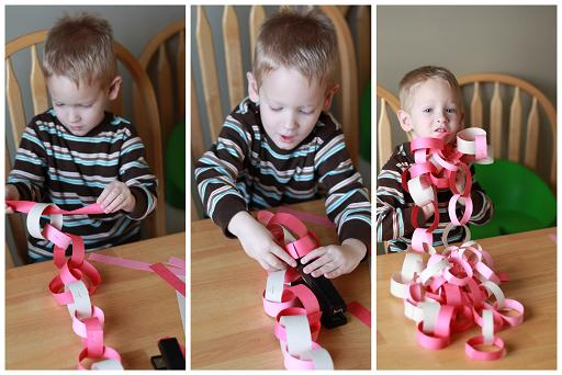 Valentine's Day paper chain