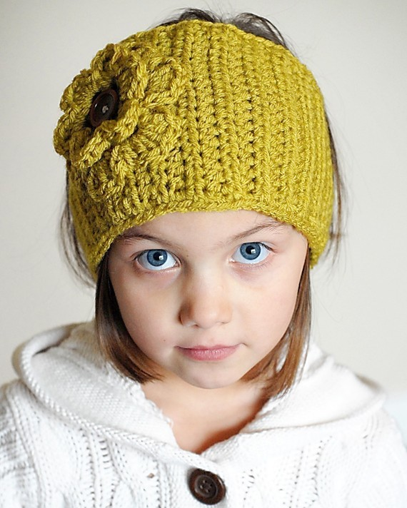 Crochet Ear Warmer/Headband with Flower - Crochet Headbands Patterns ...