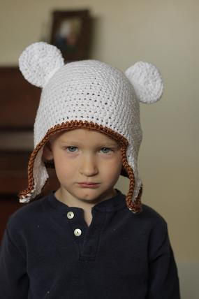 crocheted animal bear hat pattern