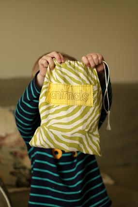 sewing a drawstring toy bag