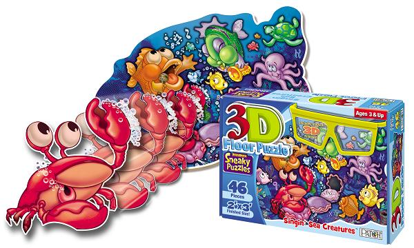 3d puzzle singin sea creatures patch products