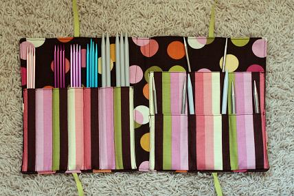 circular knitting needle case tutorial