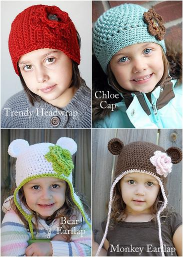 Knit  Crochet Patterns: Baby Earflap Hat