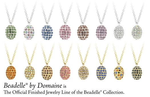beadelle pave bead necklace