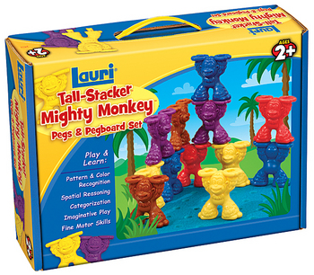 monkey tall stacker peg and peg board set patch products