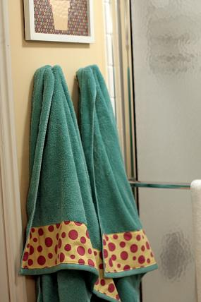 embellished bath towels